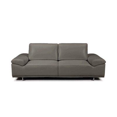 Roxanne Leather Reclining Sofa Upholstery: Dark Gray