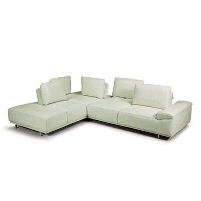 Roxanne Sectional Color: Light Grey, Orientation: Right Hand Facing
