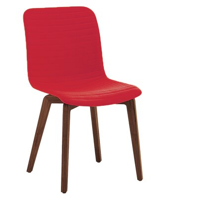 Vela Upholstered Dining Chair (Set of 2) Upholstery: Red
