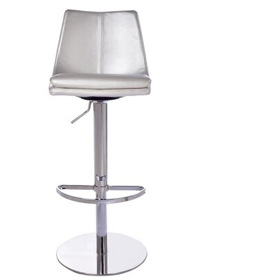 Monte Carlo Adjustable Height Swivel Bar Stool Upholstery: Pearl White