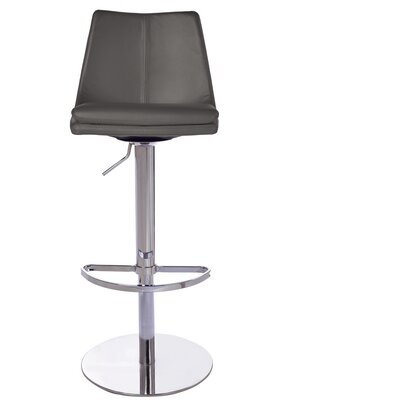 Monte Carlo Adjustable Height Swivel Bar Stool Upholstery: Dark Grey