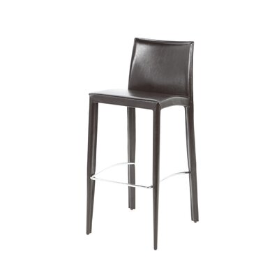 Manhattan 29 Bar Stool Upholstery: Brown