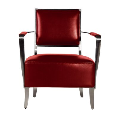 Oscar Armchair Color: Red