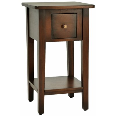 Simple End Table Finish: Medium Brown