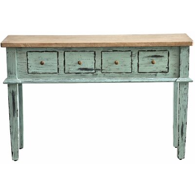 Allendale Console Table Finish: Farmhouse Island Blue