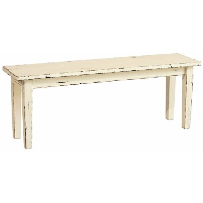 Suffolk Wood Dining Bench Finish: Off-White