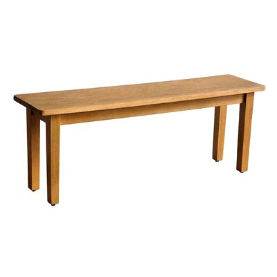Suffolk Wood Dining Bench Finish: Natural Mango