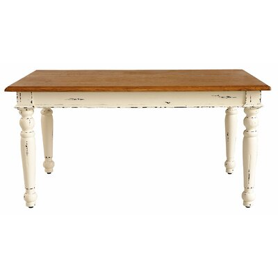Suffolk Dining Table Finish: Rustic Distressed Linen / Rustic Mango Natural
