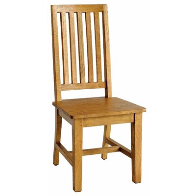 Provence Dining Solid Wood Dining Chair (Set of 2) Finish: Natural Mango