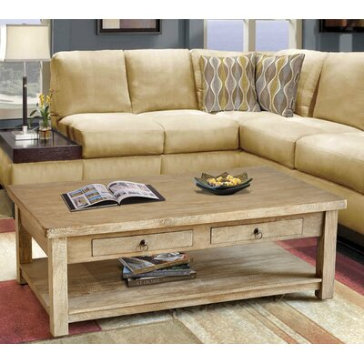 Lodge Coffee Table Color: Grey Wash