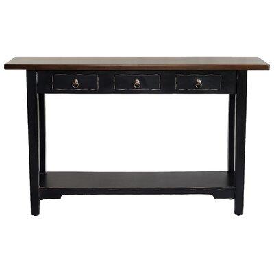 Sedona Console Table Finish: Light Distressed Black/Medium Brown