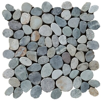 12 x 12 Natural Stone Pebble Tile in Mixed