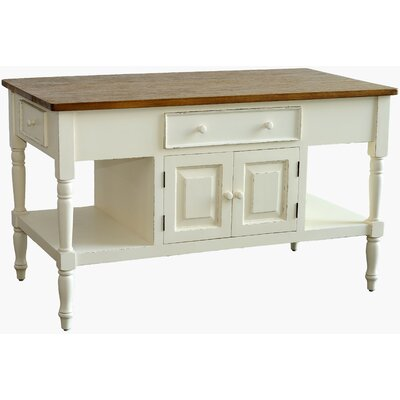 Brookstonval Kitchen Island Base Finish: Light Linen