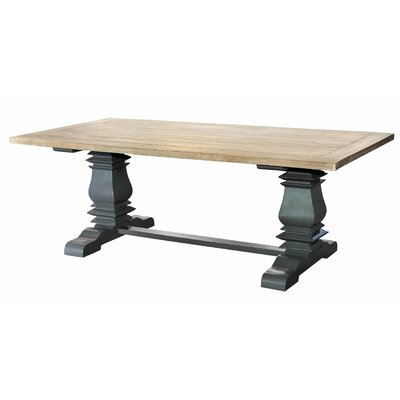 Pannell Balustrade 7 ft. Dining Table with Slatted Top