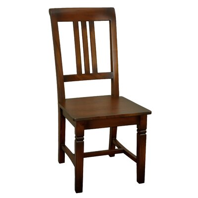 Sedona Solid Wood Dining Chair (Set of 2) Finish: Medium Brown