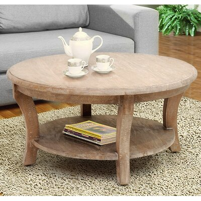 Kensington Round Coffee Table with Magazine Rack