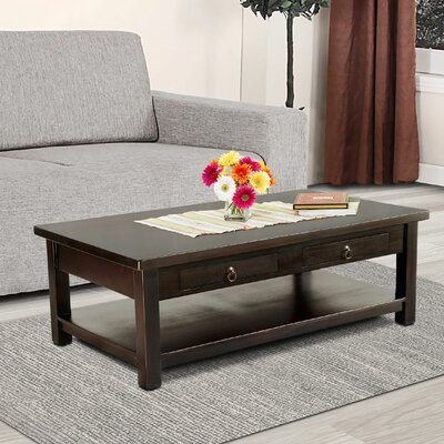 Lodge Coffee Table Color: Dark Brown