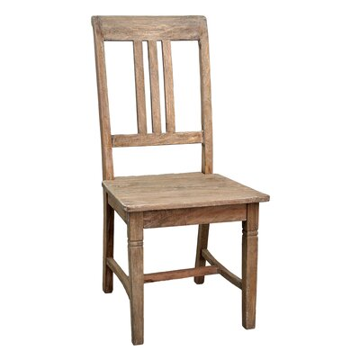 Sedona Solid Wood Dining Chair (Set of 2) Finish: Rustic Mango Gray Wash