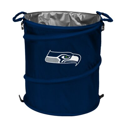 Logo Chairs NFL Collapsible 3-in-1 Residential Trash Can - NFL Team: Seattle Seahawks