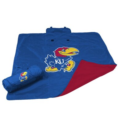 NCAA Kansas All Weather Fleece Blanket