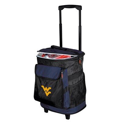 Logo Chairs Collegiate NCAA Rolling Cooler - NCAA Team: West Virginia University