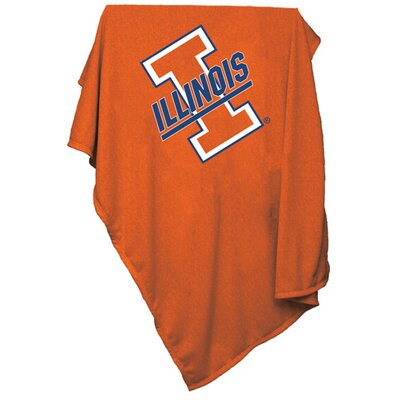 Collegiate Orange Sweatshirt Blanket - Illinois