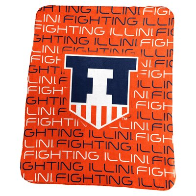 NCAA Classic Fleece Blanket NCAA: Illinois Fighting Illini