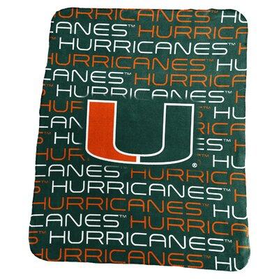 NCAA Classic Fleece Blanket NCAA: Miami Hurricanes