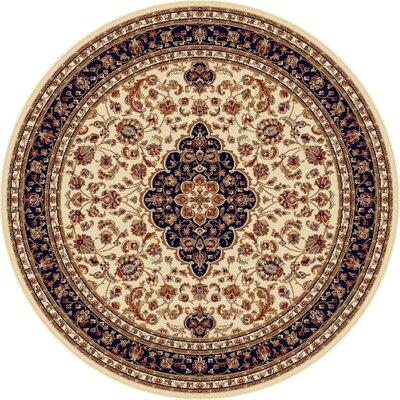 Sensation Ivory Oriental Rug Rug Size: Round 7'10
