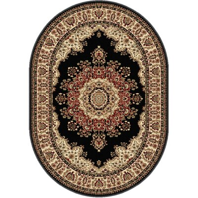 Clarence Black Area Rug Rug Size: 67 x 96