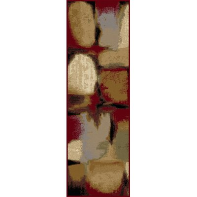 Oneil Red/Ivory Area Rug Rug Size: Runner 2'7