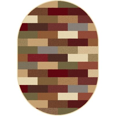 Elegance Multi Abstract Oval Area Rug Rug Size: Oval 67 x 96