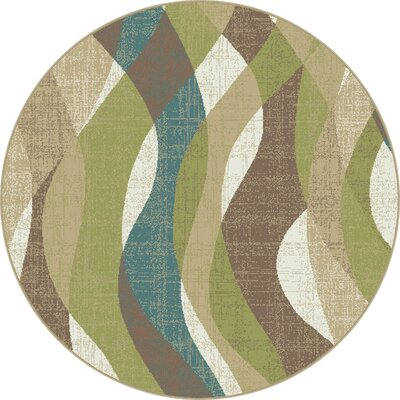 OMalley Ivory Area Rug Rug Size: Round 53