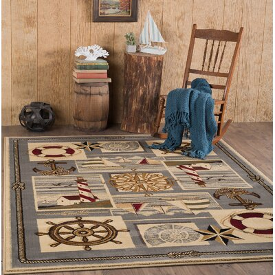Averill Ivory Area Rug Rug Size: 53 x 73