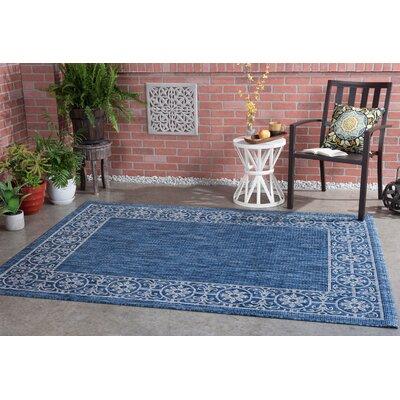 Veranda Traditional Indigo Indoor/Outdoor Area Rug Rug Size: 53 x 73
