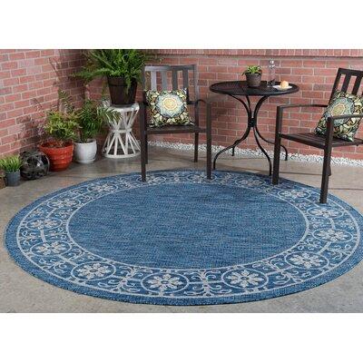 Veranda Traditional Indigo Indoor/Outdoor Area Rug Rug Size: Round 710