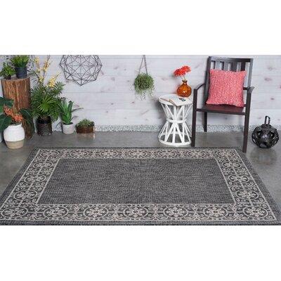 Veranda Traditional Black Indoor/Outdoor Area Rug Rug Size: 67 x 96