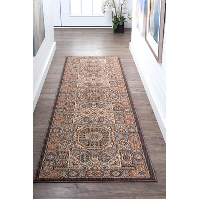 Matteson Traditional Beige/Orange Area Rug Rug Size: Runner 23 x 11