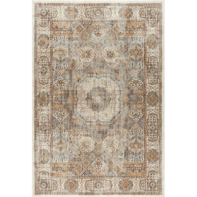 Matteson Traditional Beige Area Rug Rug Size: 2' x 3'