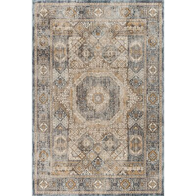 Matteson Traditional Oriental Navy/Beige Area Rug Rug Size: 710 x 103