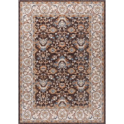 Matteson Traditional Brown/Orange Area Rug Rug Size: 53 x 73