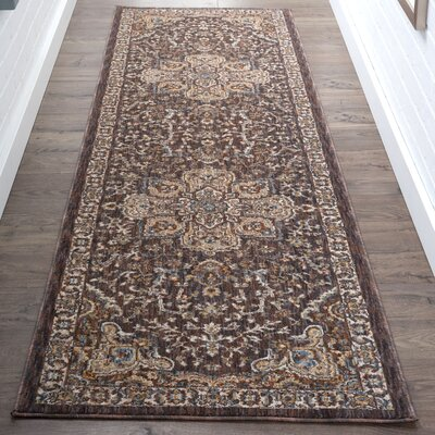Matteson Traditional Brown/Beige Area Rug Rug Size: Runner 23 x 11
