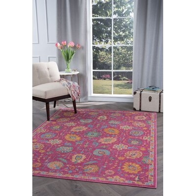 Dominick Modern Pink Area Rug Rug Size: 53 x 73