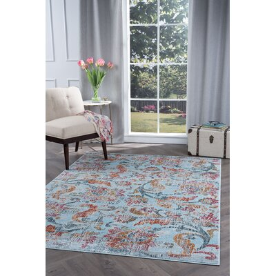 Dominick Modern Blue/Orange Area Rug Rug Size: 710 x 103