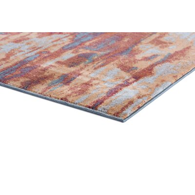 Ceasar Modern Orange/Blue Area Rug Rug Size: Rectangle 710 x 103