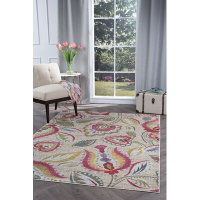 Ceasar Modern Beige Area Rug Rug Size: Rectangle 53 x 73