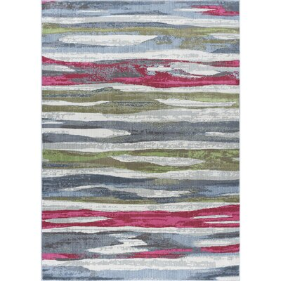 Ceasar Contemporary Pink/Gray Area Rug Rug Size: 53 x 73