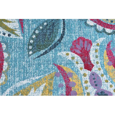 Ceasar Modern Aqua Area Rug Rug Size: Rectangle 5'3'' x 7'3''