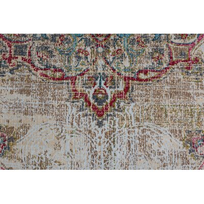 Dominick Transitional Cream Area Rug Rug Size: 53 x 73
