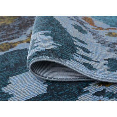 Dominick Aqua Area Rug Rug Size: Rectangle 53 x 73